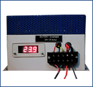 High Frequency Battery Charger Base Model With Ammeter
